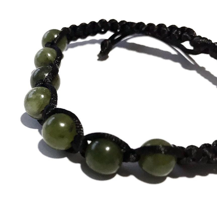 jade verde natural pulseras