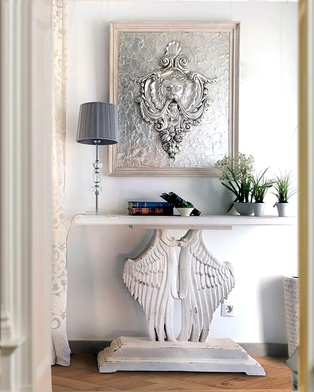 cuadro clasico leon plata