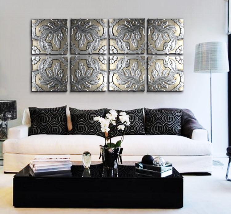 Estudio delier cuadro panel talavera plata for Cuadros decorativos clasicos