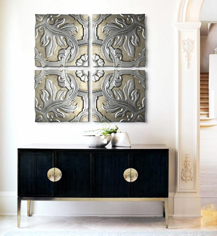 Estudio delier cuadro panel talavera plata for Cuadros estilo clasico