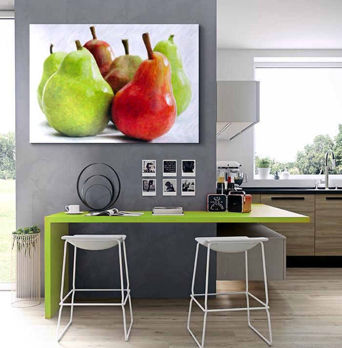 Estudio delier cuadro peras 100x70 - Cuadros de cocina modernos ...