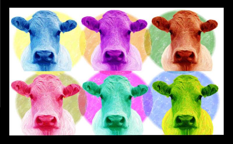 Estudio delier cuadro pop art vacas 130x80 - Cuadros de vacas ...