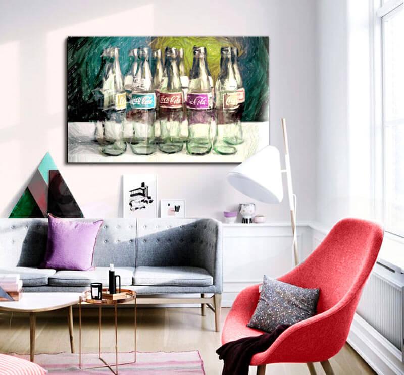 Imagen Cuadro coca cola conceptual