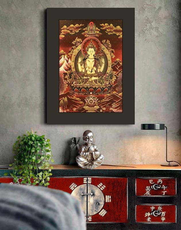 cuadros tankas Avalokiteshvara