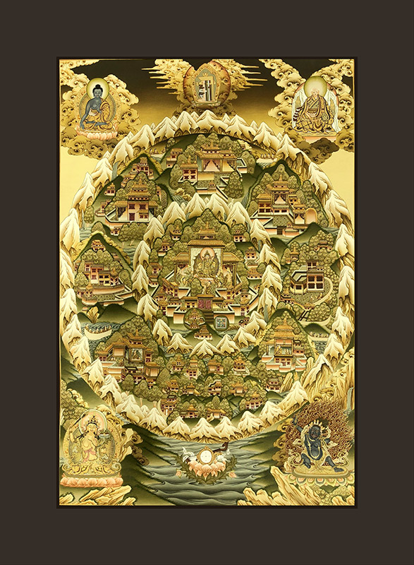 cuadro Tanka Paraíso de shambhala