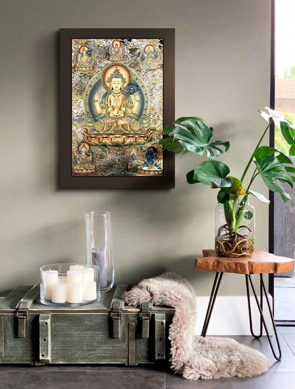 cuadro Thangka Avalokitesvara