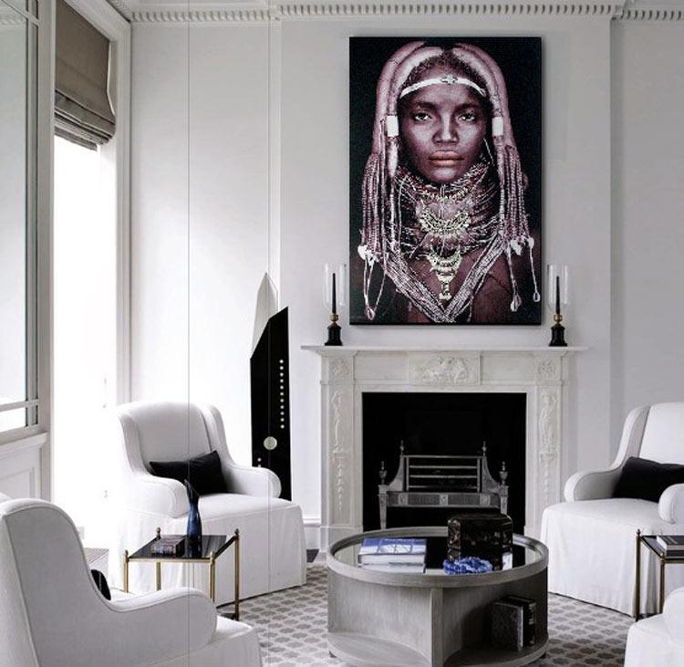 cuadros para chimeneas modernos