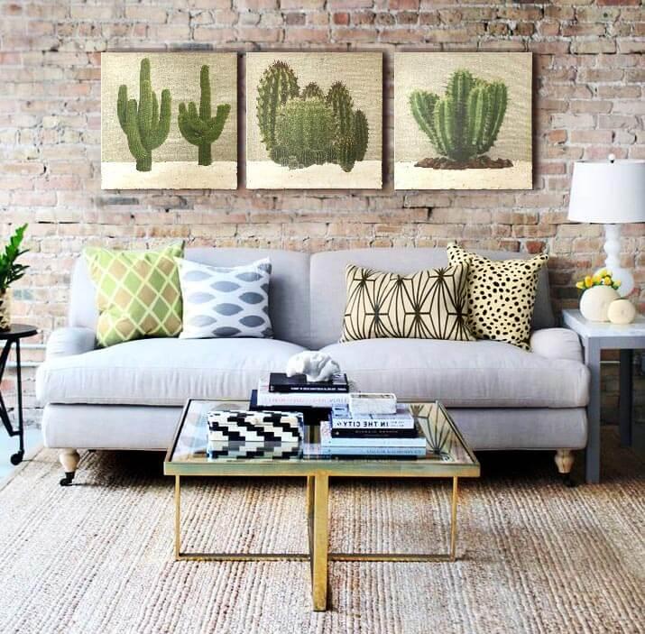 cuadros rusticos para el sofa