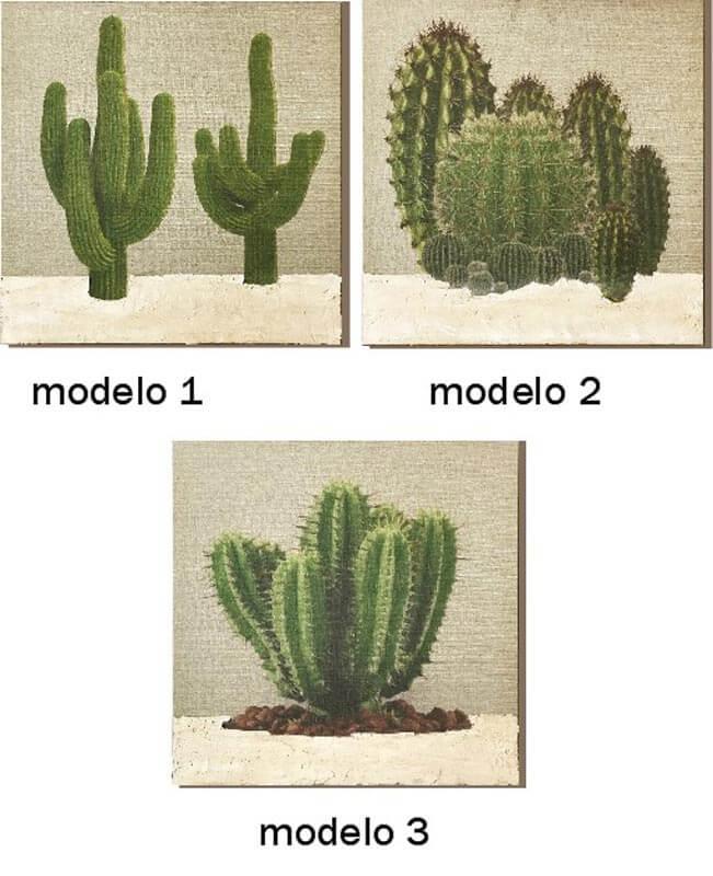 cuadros con cactus modernos
