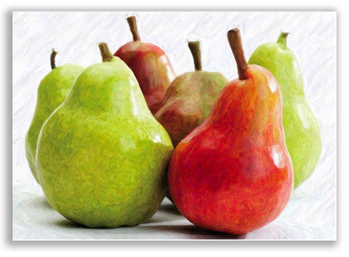 cuadros modernos frutas