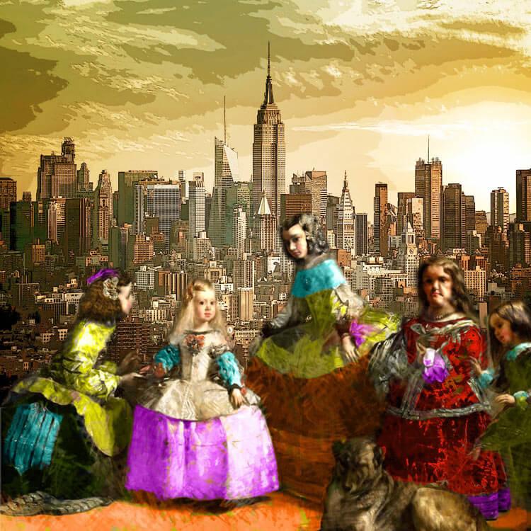 Estudio delier cuadro meninas pop art - Cuadro meninas moderno ...