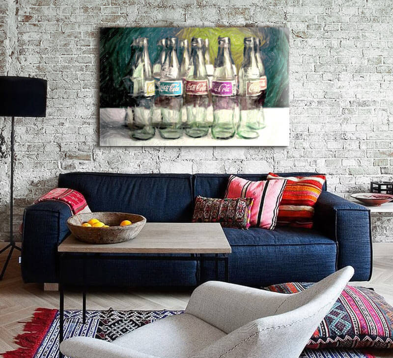 Cuadros para sofas - Pinturas para salones modernos ...