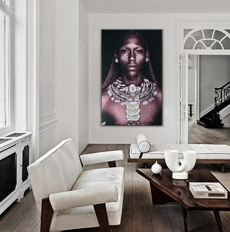 cuadros contemporaneos africanos
