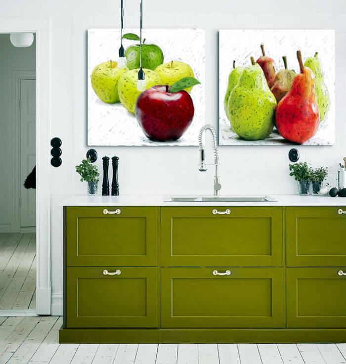Estudio delier cuadro peras 50x50 for Cuadros cocina decoracion