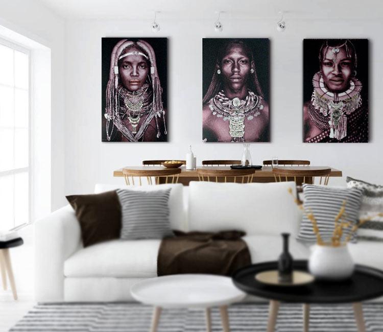cuadros africanos etnicos modernos