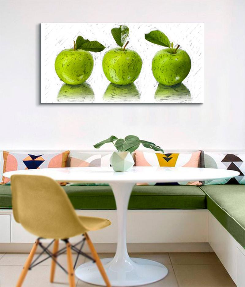 cuadros  modenos manzanas