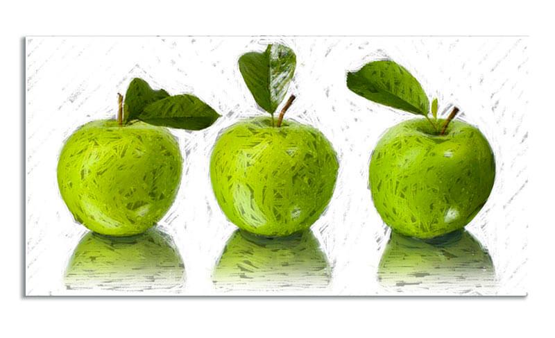 Estudio delier cuadro manzanas 120x60 - Cuadros de cocina modernos ...