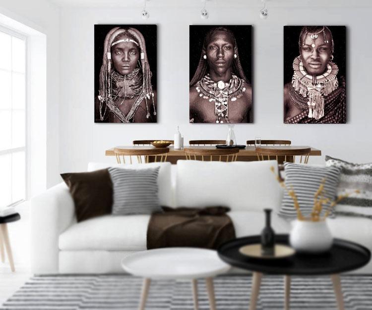 cuadros etnicos africanos