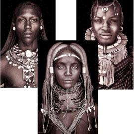cuadros etnicos abstractos
