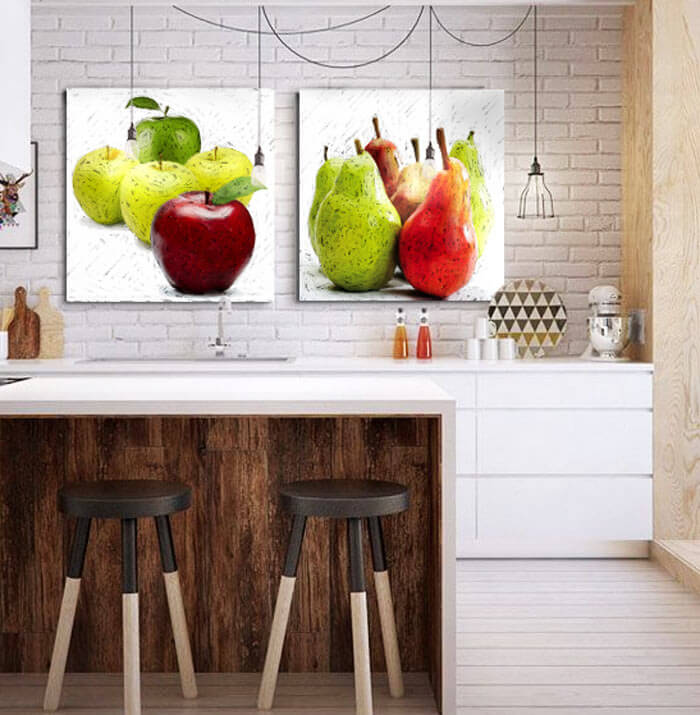 Estudio delier cuadro manzanas 50x50 - Cuadros de cocina modernos ...