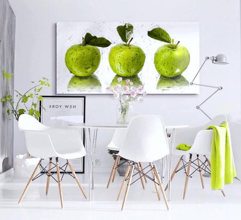 Estudio delier cuadro manzanas 120x60 - Cuadros para comedor moderno ...
