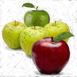 cuadros de manzanas