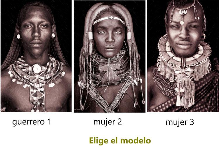 cuadros etnicos mujeres africanas modernos