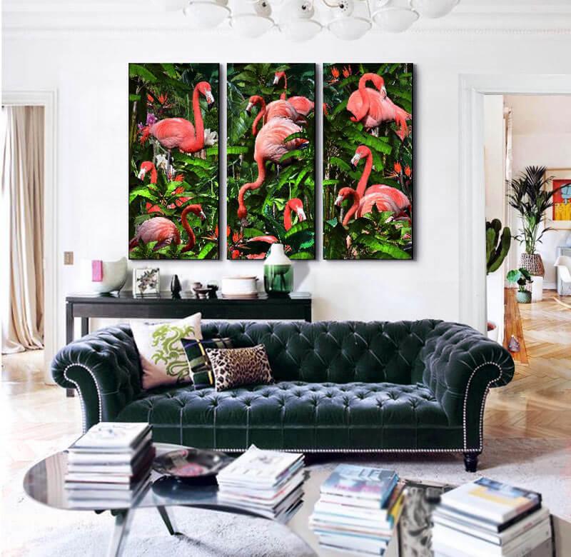 cuadros tripticos para sofas