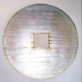 Imagen Cuadro circulo plata blanco zen
