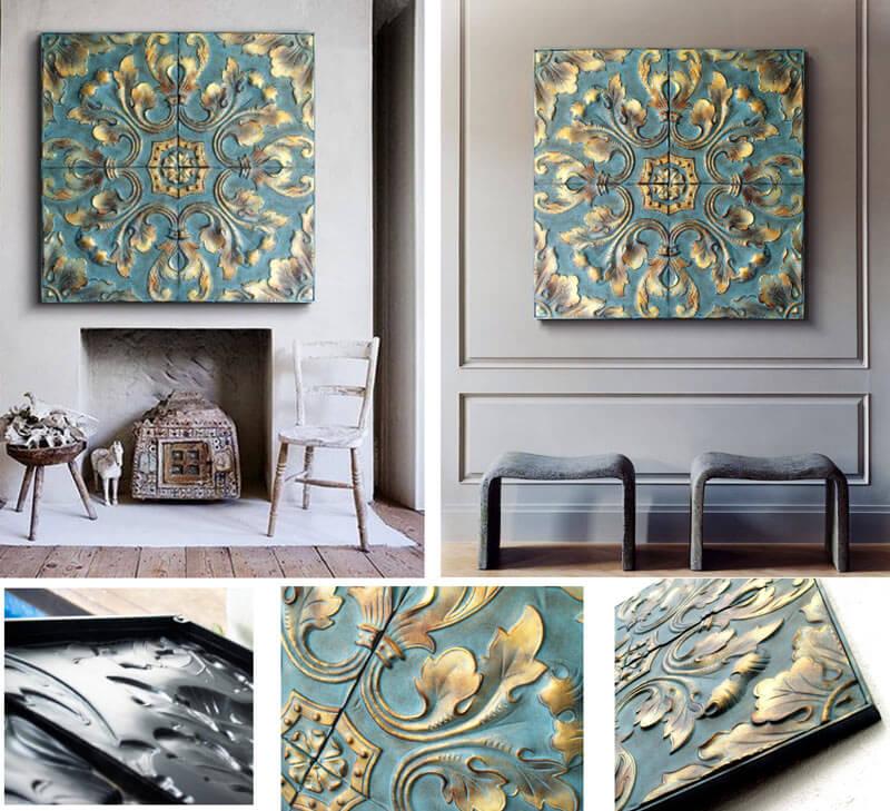 Estudio delier cuadro panel clasico for Cuadros decorativos clasicos