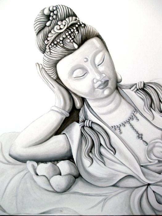 cuadros de deidades budistas