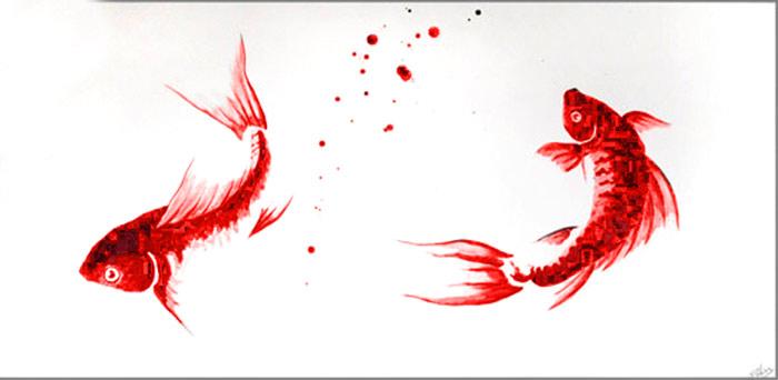 Estudio delier cuadro carpas zen r 125x60cm - Cuadros estilo zen ...