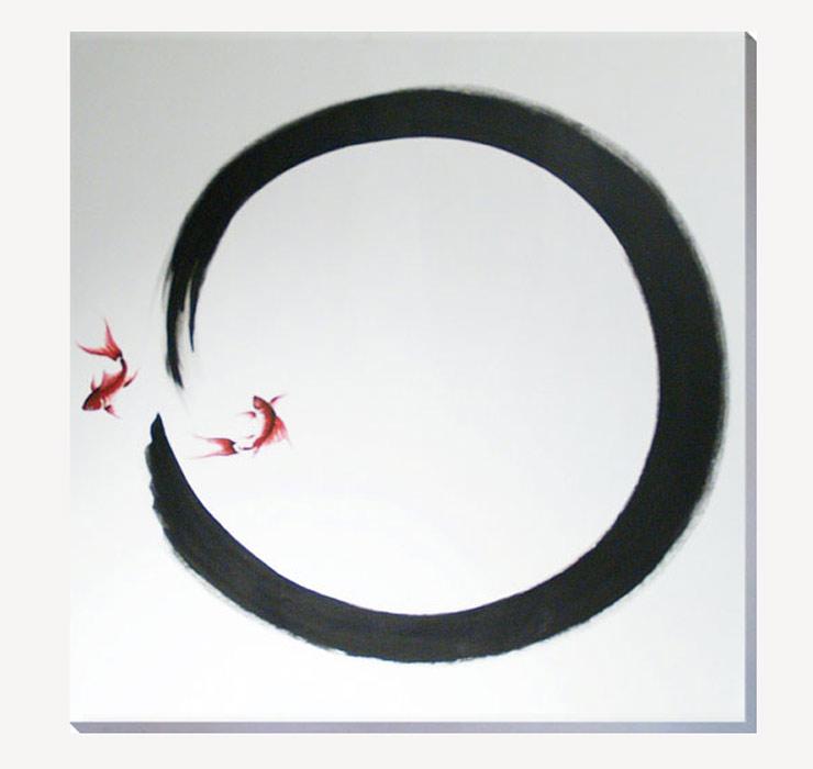 cuadros circulos japoneses orientales