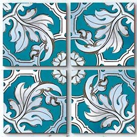cuadros modernos en azul