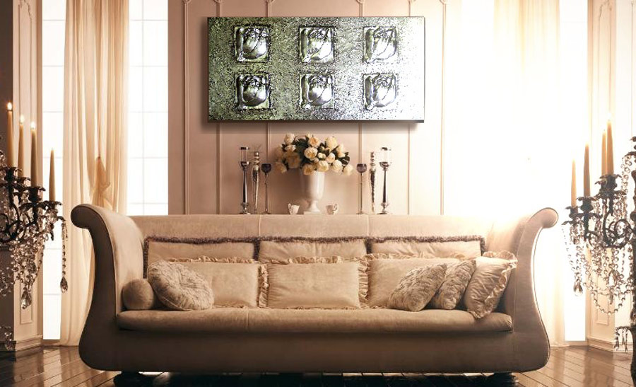 cuadros para sofas clasicos
