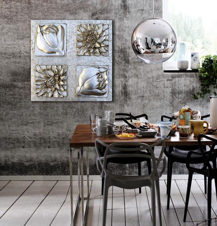 cuadros para cocinas en plata