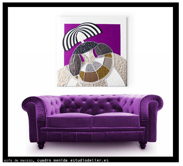 cuadros modernos para sofa