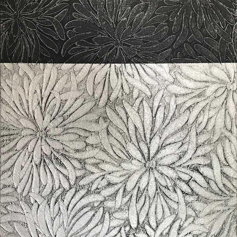 cuadros modernos en plata y negro