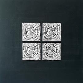 cuadros en negro y plata