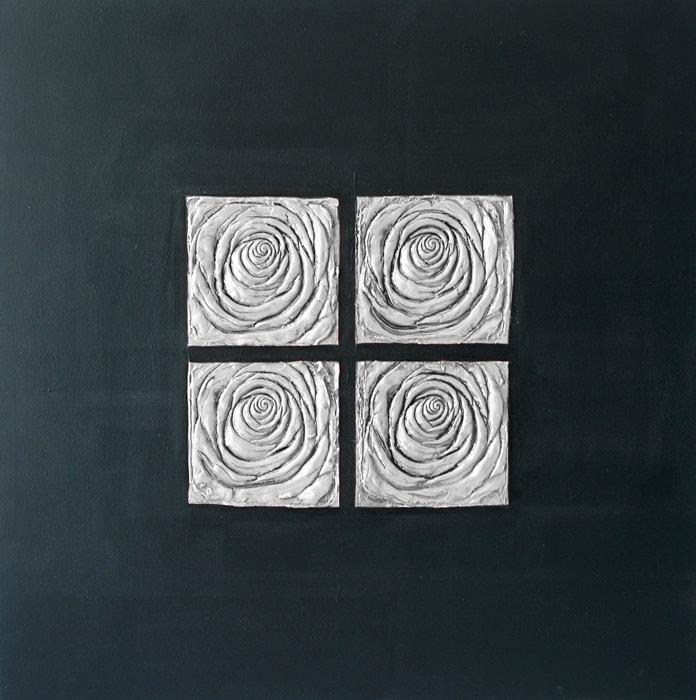 cuadros zen en negro y plata