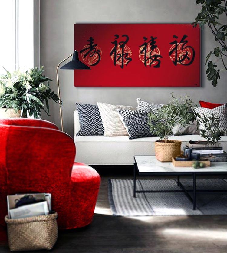 cuadros orientales para el sofa