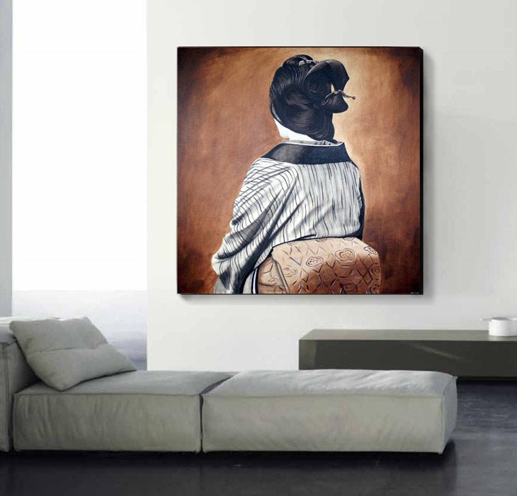 cuadros pintados al oleo orientales
