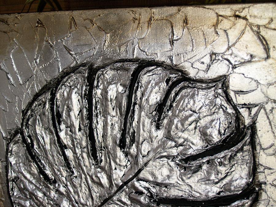 cuadros con texturas en plata