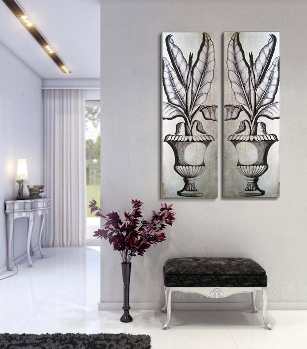 cuadros para pasillos en plata
