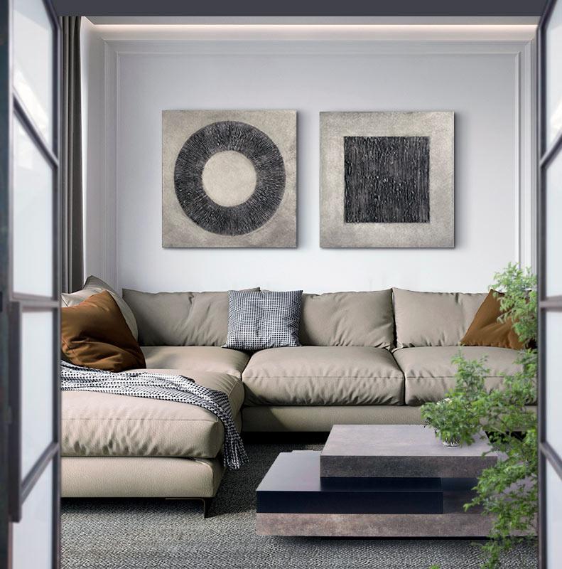 cuadros modernos para sofa salon