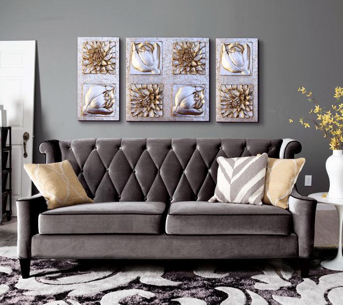 cuadros tripticos sofas dormitorios