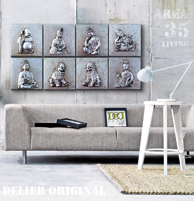 Estudio delier cuadro zen 25x25 buda tathagata - Cuadros originales para salon ...
