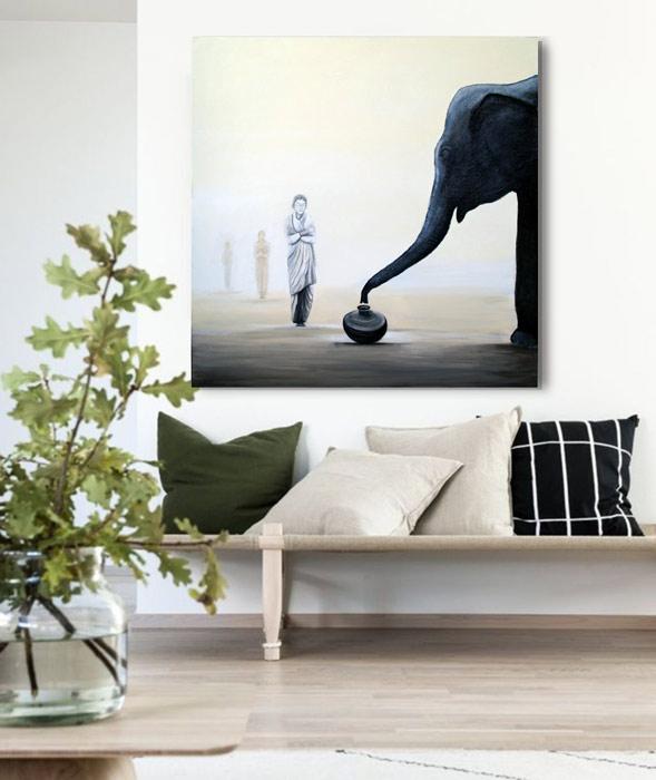 cuadros decoracion elefantes