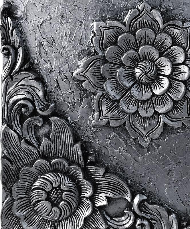 cuadros de flores relieves