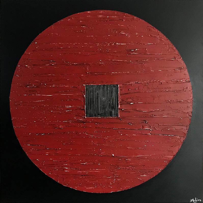 cuadros orientales rojos
